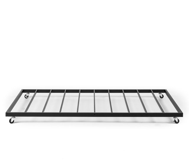 Amazon Com Zinus Eden Trundle Bed Frame Only Roll Out Trundle Accommodates Twin Mattress Sold Separately Kitchen Dining