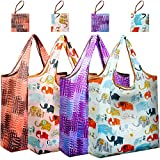 Reger Folding Grocery Shopping Tote Bags Small Pouch Mathine Washable Gift Packable Bags