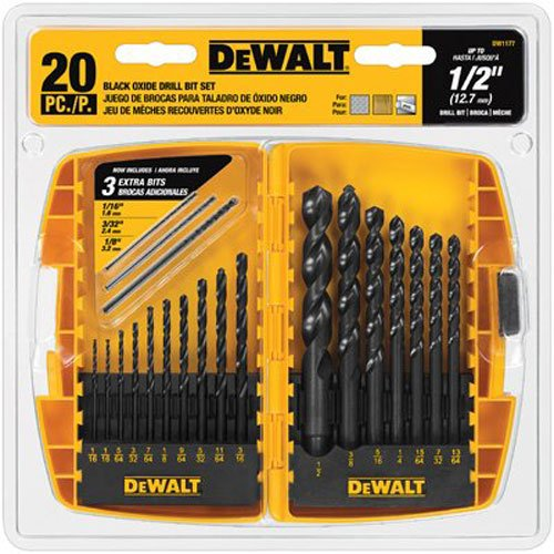 DEWALT Black Oxide Drill Bit Set, 20-Piece (DW1177)