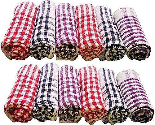 Niranj Cotton Cleaning Cloth Kitchen Multipurpose Napkin (15X15 Inch, Multicolour) - Pack of 12 1  Niranj Cotton Cleaning Cloth Kitchen Multipurpose Napkin (15X15 Inch, Multicolour) – Pack of 12 61fTpd0eYyL