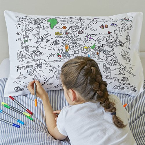 The best fun loving craft gifts for kids who love to color craft gifts for kids doodle world map gumiabroncs Choice Image