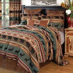Carstens Skagit River Green Comforter Set