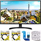 LG 32' 3840x2160 Ultra HD 4k LED Monitor (32UD59-B) with 2x 6ft High Speed HDMI Cable Black, Universal Screen Cleaner for LED TVs & SurgePro 6 NT 750 Joule 6-Outlet Surge Adapter with Night Light