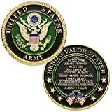 Hero's Valor United States Army Challenge Coin with Prayer 1-Pack (One Coin)