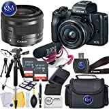 Canon EOS M50 Digital Mirrorless Camera K&M Bundles ([Video Creator] EOS M50 w/15-45mm, Black)