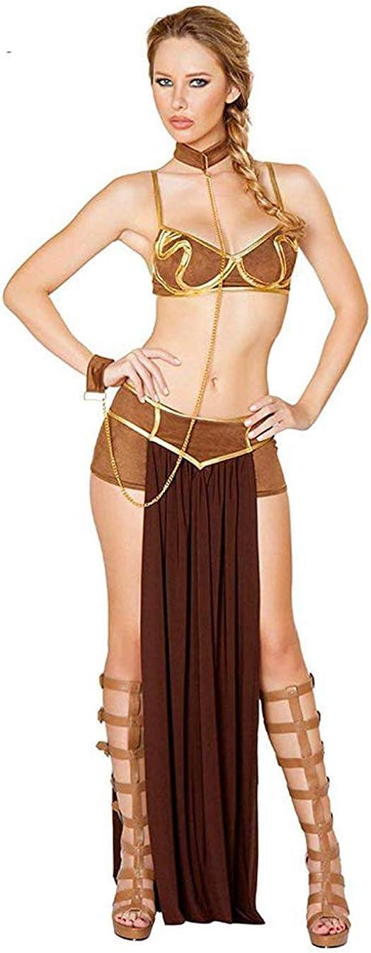 Beautyplay Mujer Sexy Lencería Traje Princesa Leia Slave Miss Manners Uniforme Ropa Interior Cosplay Disfraces