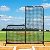 FORTRESS 7' x 7' Pitcher L-Screen Frame & #42 Heavy Duty Net with 42' Drop