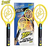 Zap It! Bug Zapper Racket Mini, 4000V, USB Rechargeable, Twin Pack