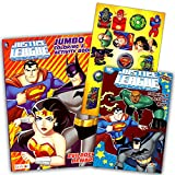 DC Comics® Justice League Coloring And Activity Book Set (Two 96 -page Books) Batman, Superman, Wonder Woman, Green Lantern, The Flash, Aquaman, and Cyborg