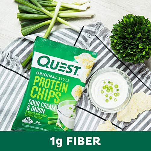 Quest Nutrition Protein Chips, Sour Cream & Onion, Pack of 12 6