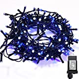 WISD String Lights 200 LED 43ft Dual Color Plug in Fairy Lights with 8 Effects and Memory, String Lights Decor for Wedding, Bedroom, Christmas, Party, Indoor Outdoor Home Decoration (Blue + White)