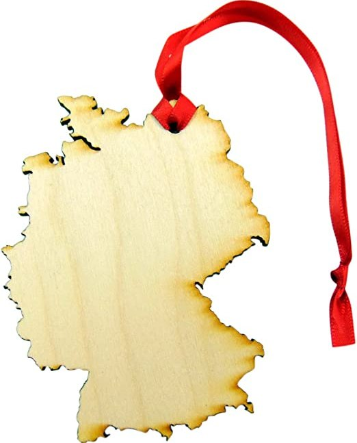 Wooden Country Christmas Ornament Boxed