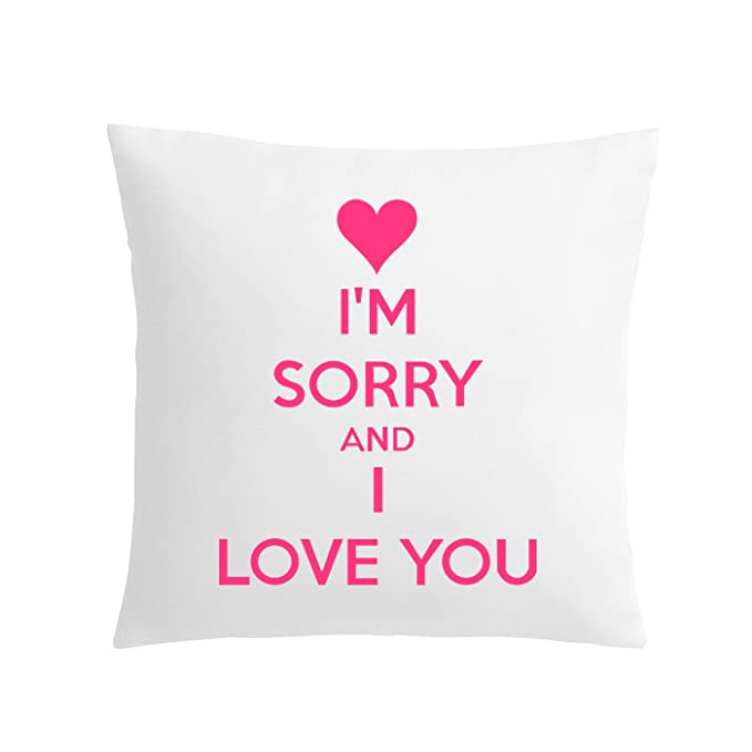 Khakee I Am Sorry & I Love You Theme Printed Cushion Cover (12x12 Inches): Amazon.in: Home & Kitchen