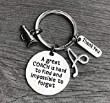 Personalized Cheer Coach Charm Keychain with Letter Charm, Custom Cheerleading Coach Gift