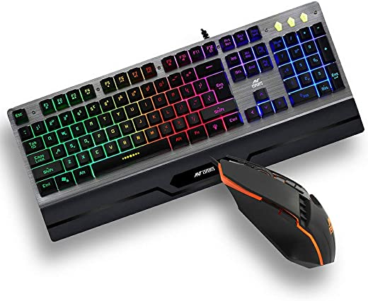 Ant Esports KM540 Gaming Backlit Keyboard and Mouse Combo, LED Wired Gaming Keyboard, Ergonomic & Wrist Rest Keyboard, Programmable Gaming Mouse for PC/Laptop/Mac – Black