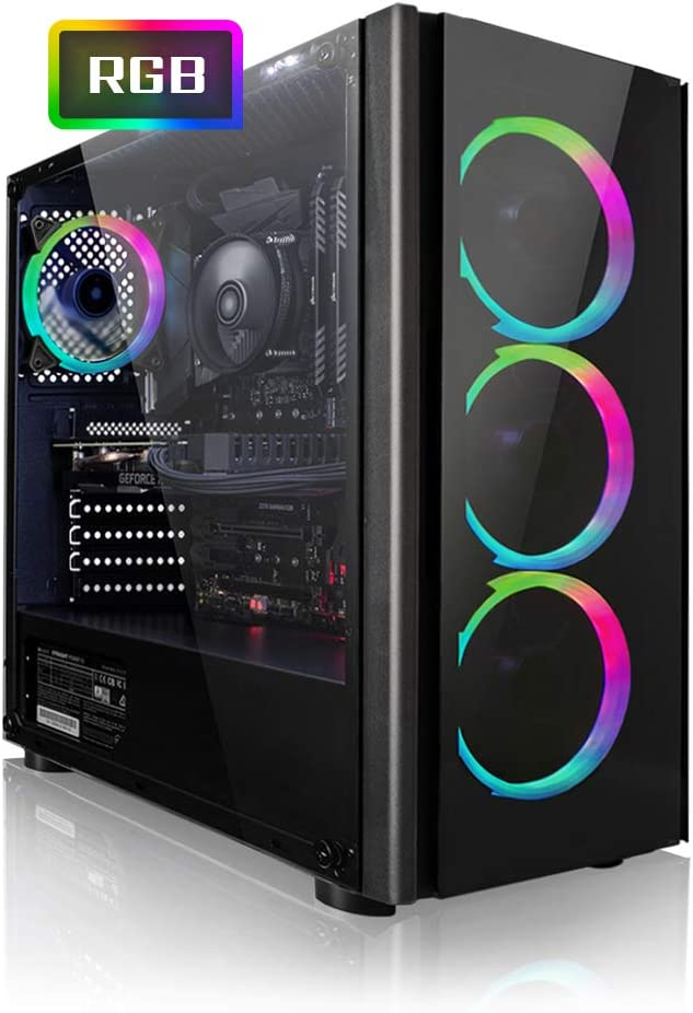 Megaport PC Gamer Platin AMD Ryzen 5 2600 6x 3,40 GHz • GeForce GTX1660 6Go • 16Go DDR4 • 240Go SSD • 1To • Windows 10 • WiFi • USB3.0 Unité centrale ordinateur de bureau PC gaming PC ordinateur gamer