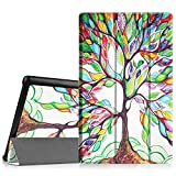 Fintie Slim Case for Fire HD 10 (5th Generation, 2018 release), Ultra Lightweight Stand Cover with Auto Wake / Sleep for Amazon Fire HD 10.1 inch Tablet (NOT Fit HD 10 7th Gen 2018), Love Tree