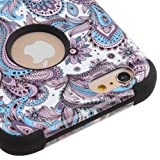 Kaleidio Case Compatible For Apple iPhone 6 / 6S (4.7') [Mybat TUFF] Impact Protective Dual Layer Hybrid Cover [Includes a Overbrawn Prying Tool Stylux Stylus] [Flower Paisley]