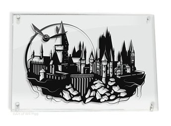 Harry Potter Hogwarts Castle and Golden Snitch - hand cut paper art