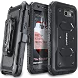 Galaxy J3 2017/J3 Prime/J3 Emerge/J3 Eclipse/Express Prime 2/Luna Pro/Amp Prime 2/Sol 2 Case,COVRWARE [Aegis] Built-in [Screen Protector] Heavy Duty Rugged Holster [Belt Clip][Kickstand] Black