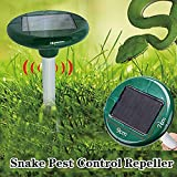 WoSports Solar Ultrasonic Mole Rodent Snake Repeller Pest Control for Outdoor Garden Yard 2 Pack (Snake Pest Control Repeller)