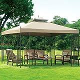 Garden Winds Scroll Gazebo Replacement Canopy - RipLock 350