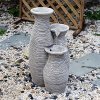 Outsunny-26-Three-Pitcher-Pouring-IndoorOutdoor-Water-Fountain