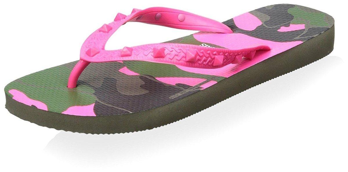Buy Valentino Men's Havaianas Flip Flop, Army Fuchsia, 38 M EU/5 M US at  Amazon.in