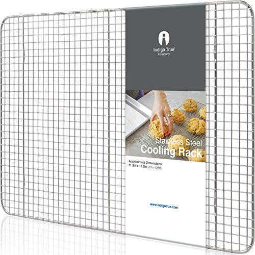 "Cooling Rack Stainless Steel Half size - Commercial Grade Steel 11.5"" x 16.5"" 
