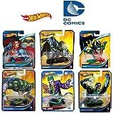 Hot Wheels DC Comics 6 pack Value Set: Superman, Batman, Robin, The Joker, Green Lantern, Killer Croc