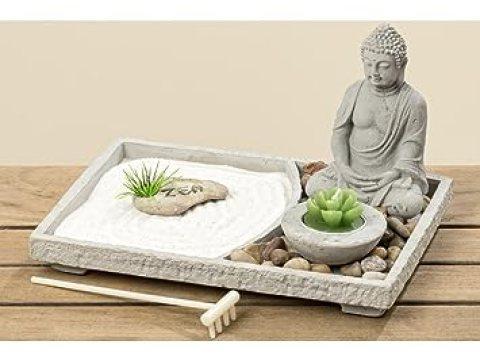 zen garten deko amazon.de: zen garten deko mit buddha und kerze