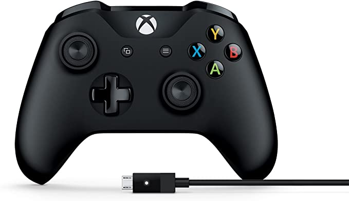 Microsoft 4N6-00001 Xbox Controller + Cable for Windows