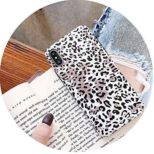 Fashion Tiger Leopard Print Panther Photo Soft Phone Case for iPhone Xs MAX XR 7 Plus 6 6S Plus 8 8plus X Mobile Phone Shell,E,for iPhone Xs