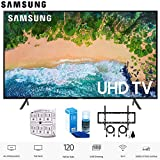 Samsung 55NU7100 55' NU7100 Smart 4K UHD TV (2018) with Wall Mount+Cleaning Kit (UN55NU7100)