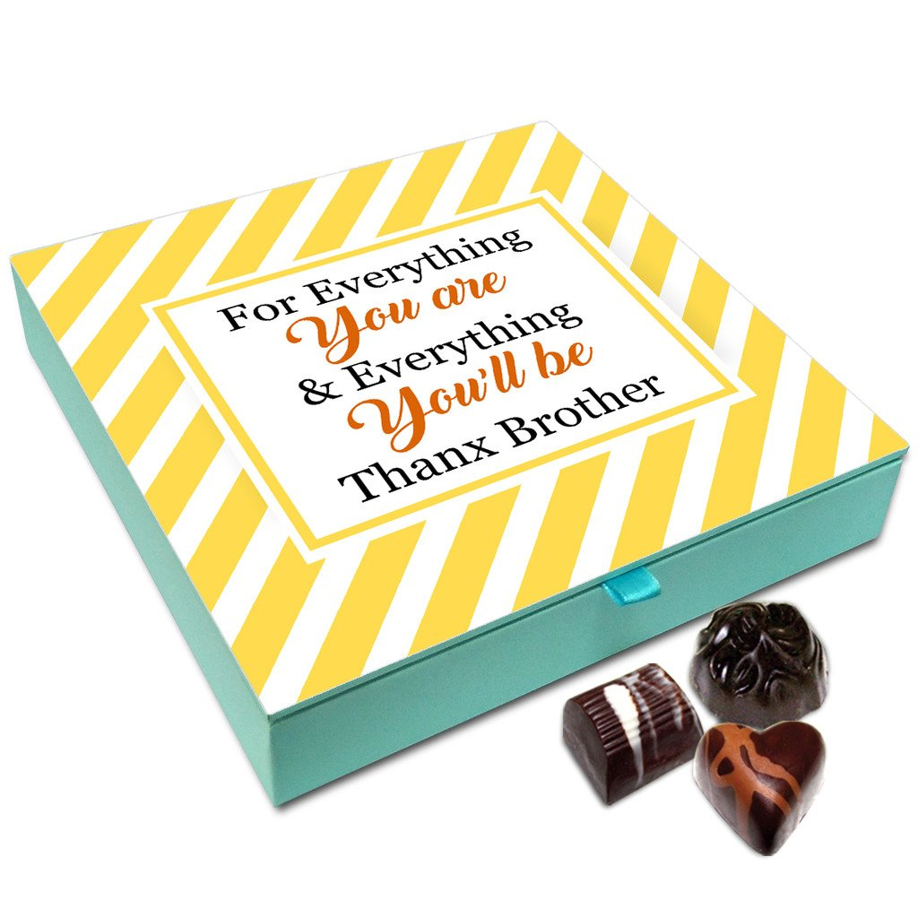 Chocholik Rakhi Gift Box – Thanks for Everything You are Brother Chocolate Box for Brother – 9pc