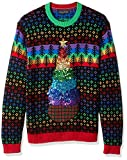 Blizzard Bay Men's Ugly Sweater Hanukkah, Rainbox Christmas Tree, Medium