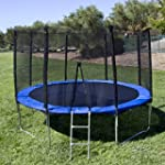 Best Choice Products 12' Round Trampoline Set With Safety Enclosure