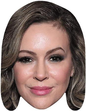 Amazon.com: Alyssa Milano (Lipstick) Celebrity Mask, Flat Card ...