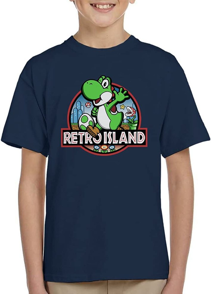 Cloud City 7 Super Mario Jurassic Retro Park Kid's T-Shirt
