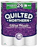 Quilted Northern Ultra Plush Toilet Paper, 12 Double Rolls, 12 = 24 Regular Rolls