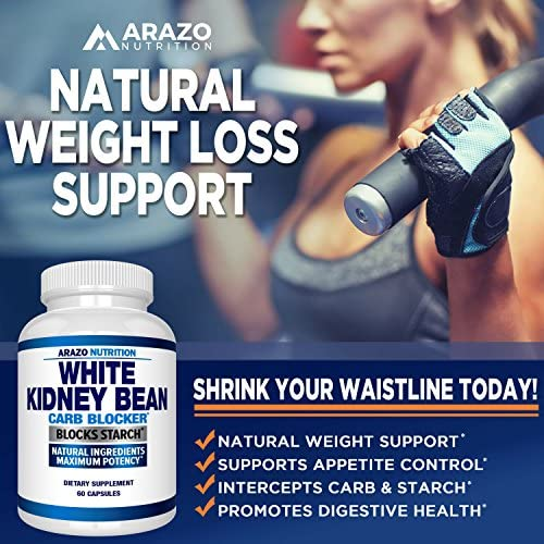 White Kidney Bean Extract - 100% Pure Carb Blocker and Fat Absorber for Weight Loss - Intercept Carbs – Arazo Nutrition 6