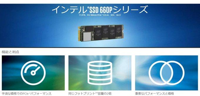 Intel SSD 660p 機能とメリット