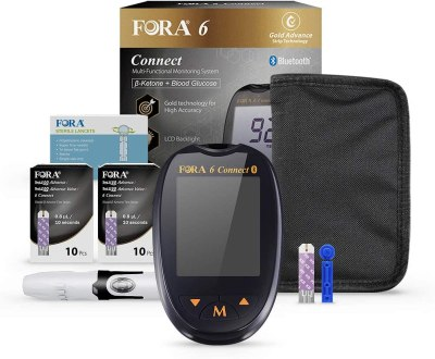 FORA 6 Connect Blood Ketone and Blood Glucose Testing Meter Kit