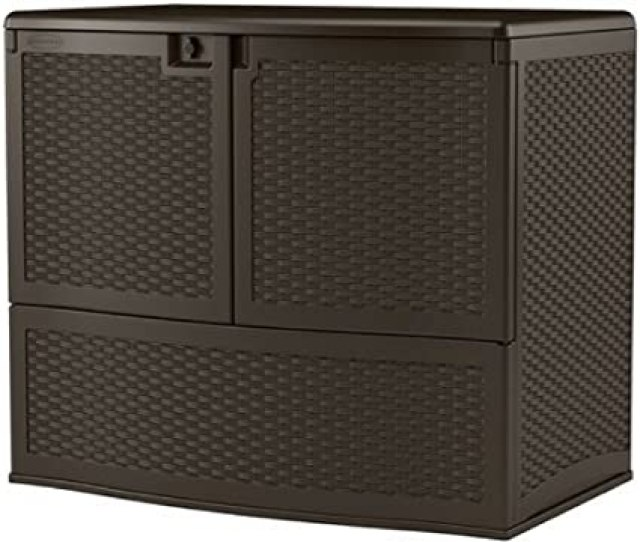 Sju Outdoor Storage Containers All Weather 195 Gal With Top Lid Convenient Resin Deck Storage Box