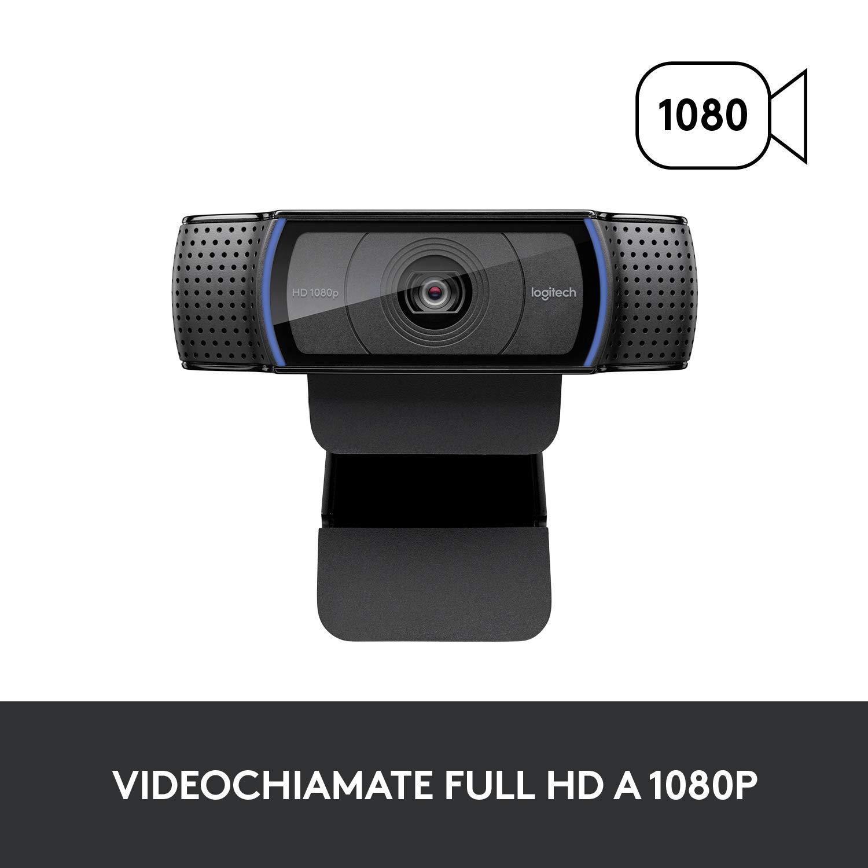 Logitech C920 HD Pro Webcam con Microfono, Videochiamate e Registrazione Full HD 1080p
