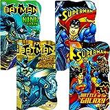 DC Comics Batman vs Superman Board Books for Toddlers - Set of Four Books (2 Batman Books, 2 Superman Books)
