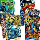 DC Comics Batman vs Superman Board Books for Toddlers - Set of 4 Books (2 Batman Books, 2 Superman Books) with Bonus Batman vs. Superman Stickers