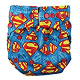 Bumkins Cloth Diaper Snap All-In-One (AIO) or Pocket, 7-28lbs, Superman