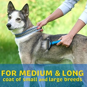 Pet-Grooming-Tool-2-Sided-Undercoat-Rake-for-Cats-Dogs-Safe-Dematting-Comb-for-Easy-Mats-Tangles-Removing-No-More-Nasty-Shedding-and-Flying-Hair