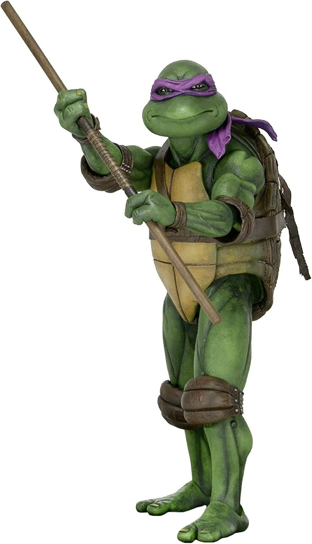 Amazon Com Neca Teenage Mutant Ninja Turtles 1990 Movie 1 4 Scale Action Figure Donatello Toys Games